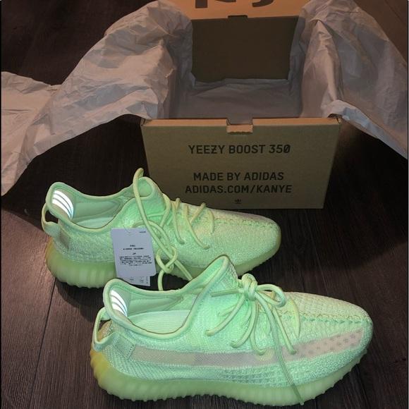 adidas Yeezy Boost 350 V2 GID Sneakers | GlowGlow Glow | EG5293
